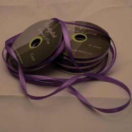 6mm Satijnlint paars 10 meter op een rol 3242-467