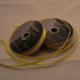 6mm Satijnlint geel 10 meter op een rol 3242-645
