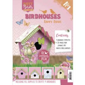 Vogelhuisjes boek 1 \- Jeanine's Art - Happy Birds JAVH10001