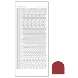 Hobbydots sticker - Mirror Christmas Red 020 STDM20H