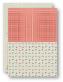 Background Sheets A4 salmon roses NEVA041