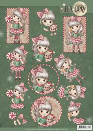 3D knipvel - Yvonne Creations - Lilly Luna Christmas Fun  CD11381