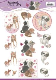 3D Cutting Sheet - Jeanine's Art - Playfull Pets CD11242