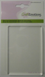 CraftEmotions blok voor clearstempel 105x74mm - 8mm 130501/1911