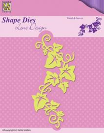Shape Dies - Lene Design - Swirls & leaves SDL025