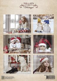 Vintage decoupage sheets Christmastime NEVI081