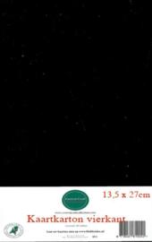 13,5 x 27 cm Kaartkarton 20 vel zwart