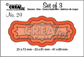 Crealies Set of 3 no. 29 Labels 3 CLSet29 25 x 73 mm - 33 x 81 mm - 4 115634/0629