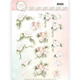3D Knipvel - Precious Marieke - Flowers in Pastels - Believe in Pink CD11142