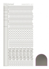 Hobby dots sticker Mirror Silver 017 STDM178