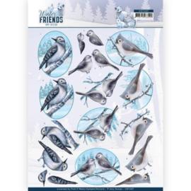 3D Knipvel - Amy Design - Winter Friends - Sparkling Birds CD11407