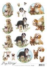 3D Cutting Sheet - Amy Design - Dogs CD11458