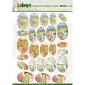 Scenery mini knipvellen - Jeanine's Art - Landscapes - ovaal JAMIN10003