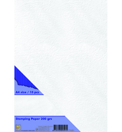 Nellie's Choice stamping paper 200 gr white A4 STPA001