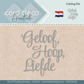 Card Deco Essentials - Dies - Geloof, Hoop, Liefde CDECD0054