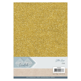 Card Deco Essentials Glitter Paper Gold CDEGP010