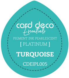 Card Deco Essentials Fast-Drying Pigment Ink Pearlescent Turquoise CDEIPL005