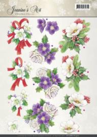 3D Knipvel - Jeanines Art - Christmas Classics - Helleborus CD10886 - HJ14701