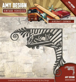 Die - Amy Design - Vintage Vehicles - Aircraft Corner ADD10098