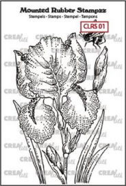 Crealies Mounted Rubber Stampzz no. 1 Iris CLRS01 69x97mm 130505/5101