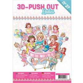 3D Push Out book 27 - Ladies 3DPO10027