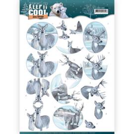 3D knipvel - Amy Design - Keep it Cool - Cool Deers  CD11201
