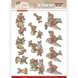 3D Push Out - Yvonne Creations - Have a Mice Christmas - Christmas Socks SB10585