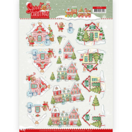 3D Knipvel - Yvonne Creations - Sweet Christmas - Sweet Houses CD11371