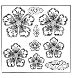 Creative Expressions Stamps To Die For Shaded Peony UMS633
