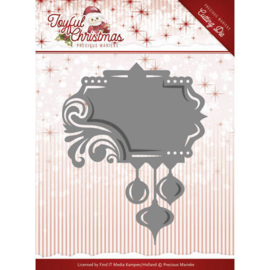 Die-Precious Marieke - Joyful Christmas - Label ornament PM10107