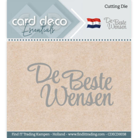 Card Deco Essentials - Cutting Dies - De Beste Wensen CDECD0038
