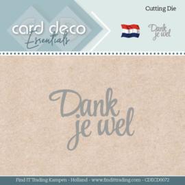Card Deco Essentials - Dies - Dank je wel CDECD0072