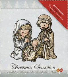 Stempel Yvonne - Kerst - Jesus, Maria and Josef CDST10020