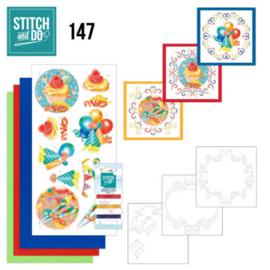 Stitch and Do 147 - Jeanine's Art - Happy Birthday STDO147