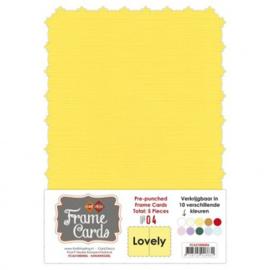 Frame Cards - Lovely - A5 - Kanarie geel FCA51000406