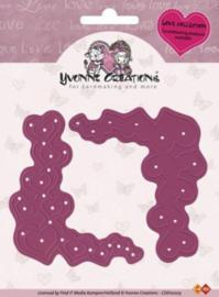 Yvonne Creations Cut + Emboss Heart corner CDD1005