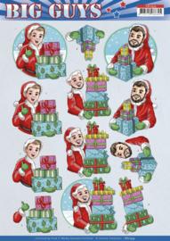3D Cutting Sheet - Yvonne Creations - Big Guys Christmas CD11533
