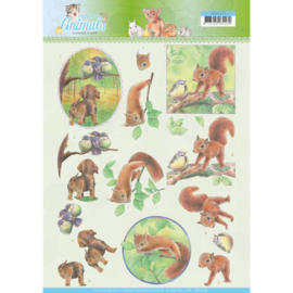 3D knipvel - Jeanine's Art - Young Animals - In the Forest CD11273