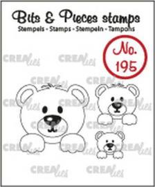 Crealies Clearstamp Bits&Pieces 3x beertjes CLBP195 max. 26x25mm