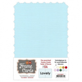 Frame Cards - Lovely - A5 - Baby blauw FCA51000427
