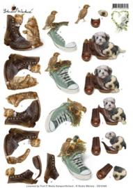 3D Knipvel - Studio Martare - Huisdieren met schoenen CD10398