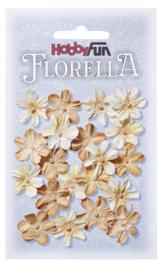 FLORELLA-Blüten beige, 2cm 3866008