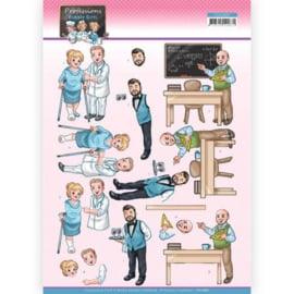 3D Cutting Sheet - Yvonne Creations - Bubbly Girls Professions - Male Professions CD11667
