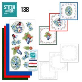 Stitch and Do 138 - Jeanine's Art - Christmas Flowers - Christmas Lantern STDO138