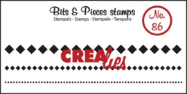 Crealies Clearstamp Bits&Pieces no. 86 3x squares in a row 1x95-2,5x95-5x95 mm / CLBP86 130505/1086