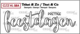 Crealies Clearstamp Tekst & Zo prettige feestdagen (omlijning) CLTZHL08A 28 x 89 mm 130505/2616