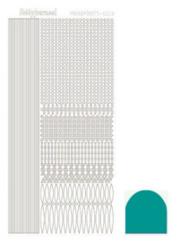 Hobbydots sticker - Mirror Emerald 003 STDM03I