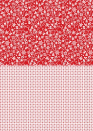 Background sheet A4 Christmas red snowflakes NEVA035