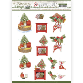 3D Push Out - Jeanine's Art - Christmas Cottage - Christmas Decoration SB10590