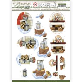 3D Push Out - Jeanine's Art - Christmas Cottage - Wood Decorations SB10593